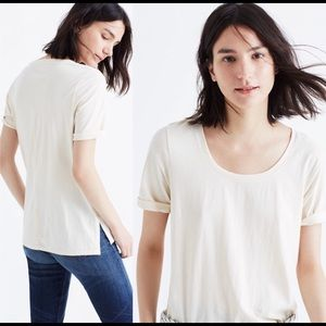 Madewell short sleeves Rift Tee in cream